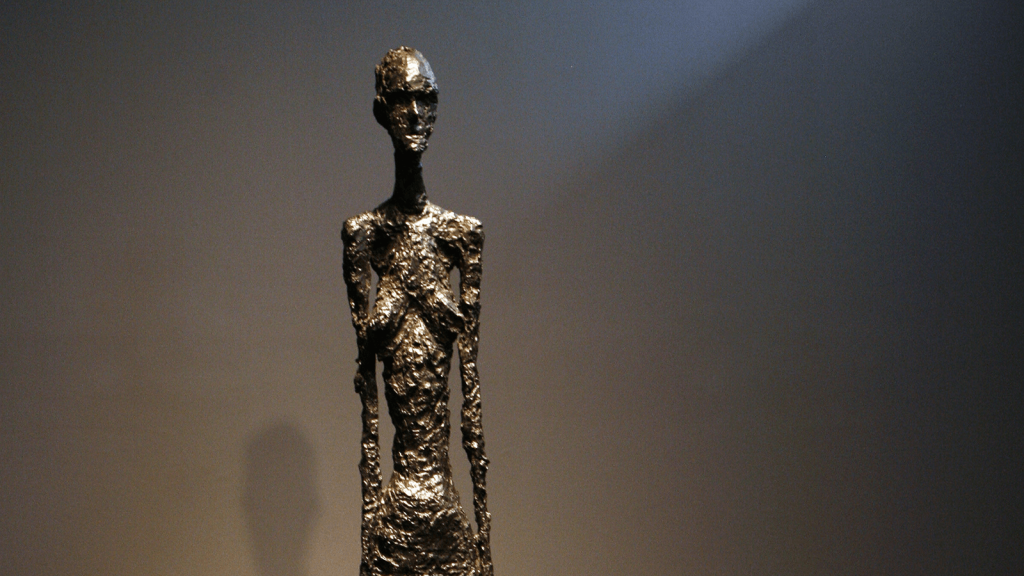 Grande femme I by Alberto Giacometti. Photo by Emmanuel Dunand for Getty Images.