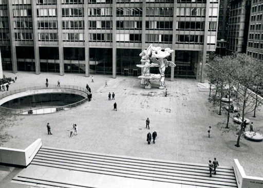 Chase Manhattan Bank plaza in the 1960s. Photo from Sotheby's.