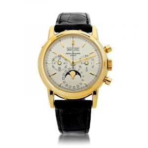 Patek Philippe - Reference 3970e A Yellow Gold Perpetual Calendar Chronograph Wristwatch With Moon Phases And Leap Year Indication, Made In 1992