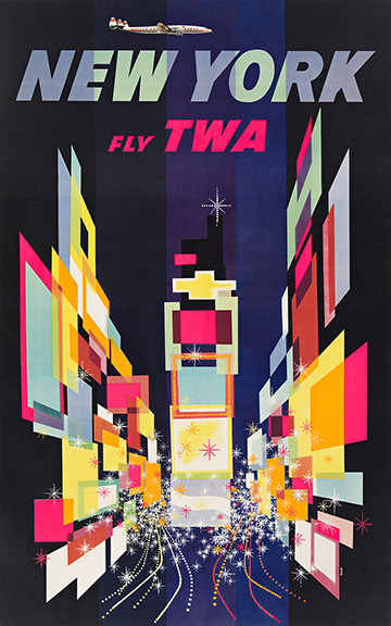 David Klein, New York / Fly TWA, 1956. Sold for $12,500, a record for the artist.