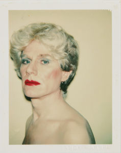 Self-Portrait in Drag by Andy Warhol. Photo courtesy of Phillips.