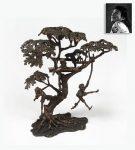 Monkeying Around Tree House Bronze, ex. Michael Jackson