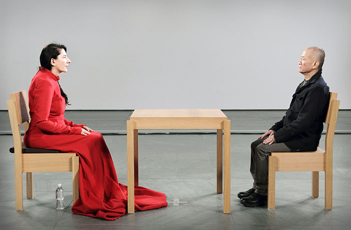 Marina Abramović during The Artist Is Present, 2010. Image from the artist.