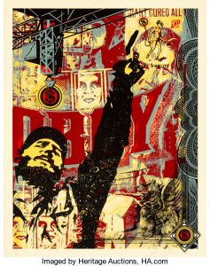 First Auction Dedicated to Shepard Faireys OBEY and 30-Year Career Opens at Heritage Auctions