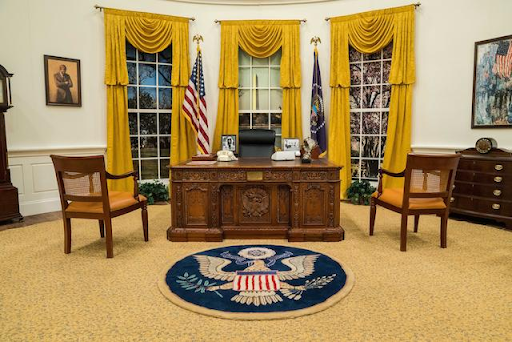 A full-scale replica of the Oval Office. Image from Bonhams.