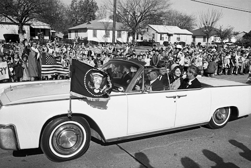 The 1963 Lincoln on the morning of Kennedy's assassination. Image from Bonhams.