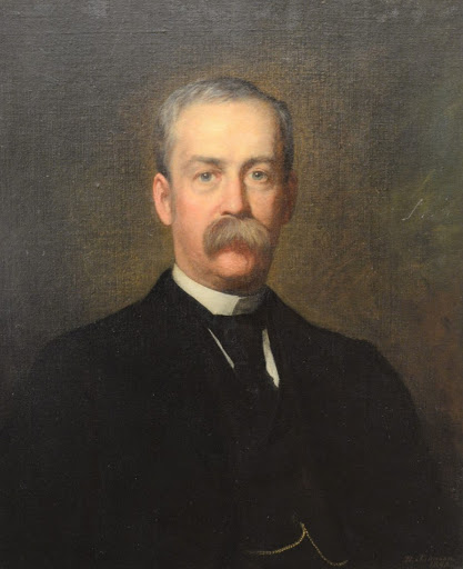 Portrait of William Thompson Lusk by Jonathan Eastman Johnson. Photo courtesy of Nadeau's Auction Gallery.