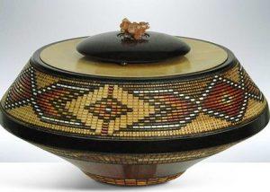 Keoni Morning Light Carved Wood Vessel