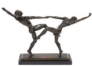 Harriet Whitney Frishmuth 'The Dancers' Bronze