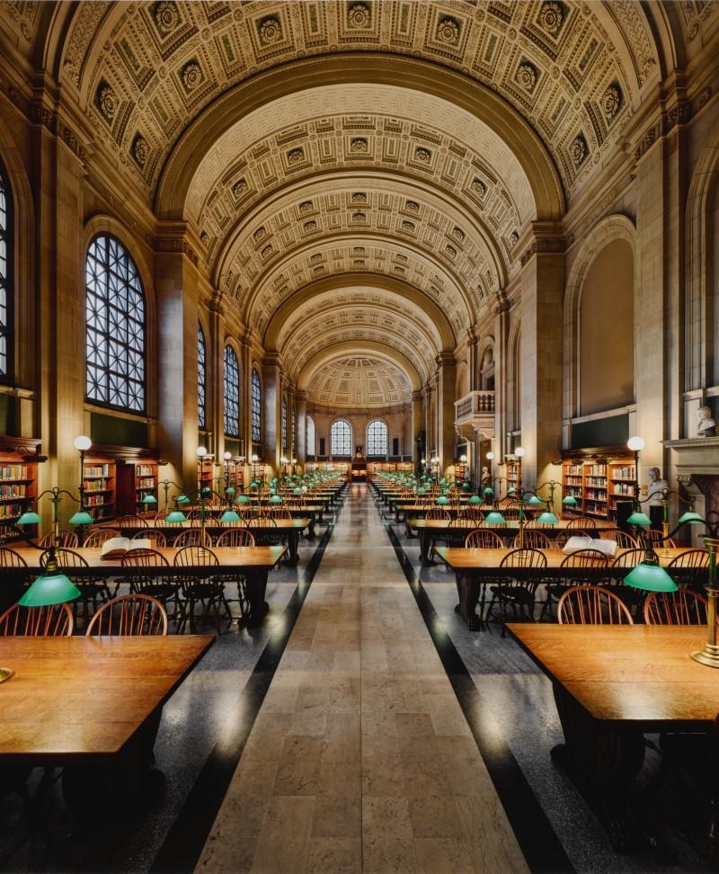 Ahmet Ertuğ, Bates Hall, Boston Public Library, 2020. Image from Sotheby's.