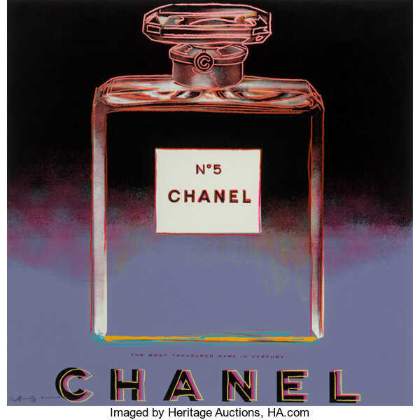Andy Warhol (1928-1987). Chanel, from Ads, 1985. Screenprint in colors on Lenox Museum Board. 38 x 38 inches