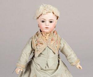 French Bru JNE bebe bisque head doll