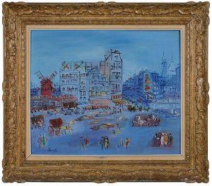 Jean Dufy (French, 1888-1964) Paris, Place Blanche