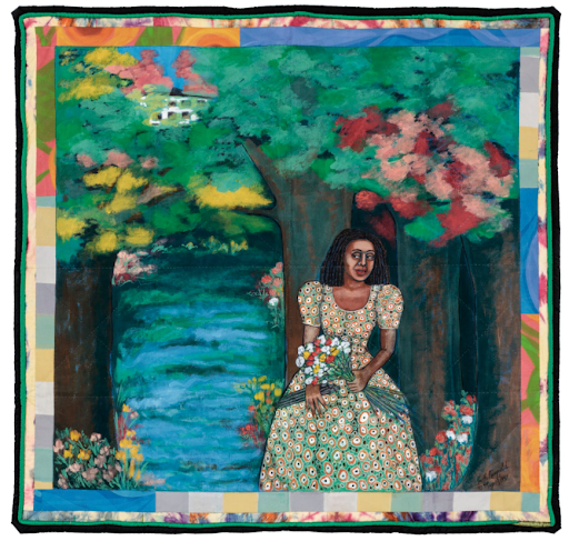 Faith Ringgold, Listen to the Trees, 1997. Image from Sotheby's.