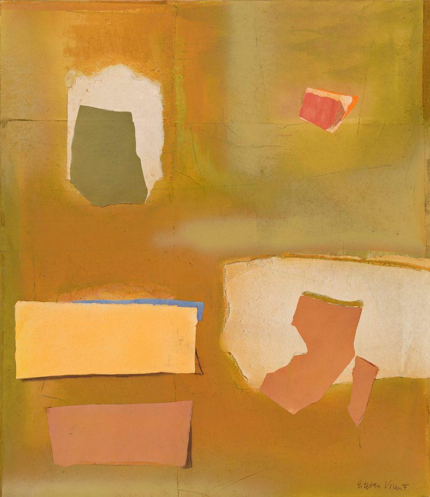 Esteban Vicente, Primavera Series: Lerna, oil and paper collage on canvas, 1985. Estimate $25,000 to $35,000.