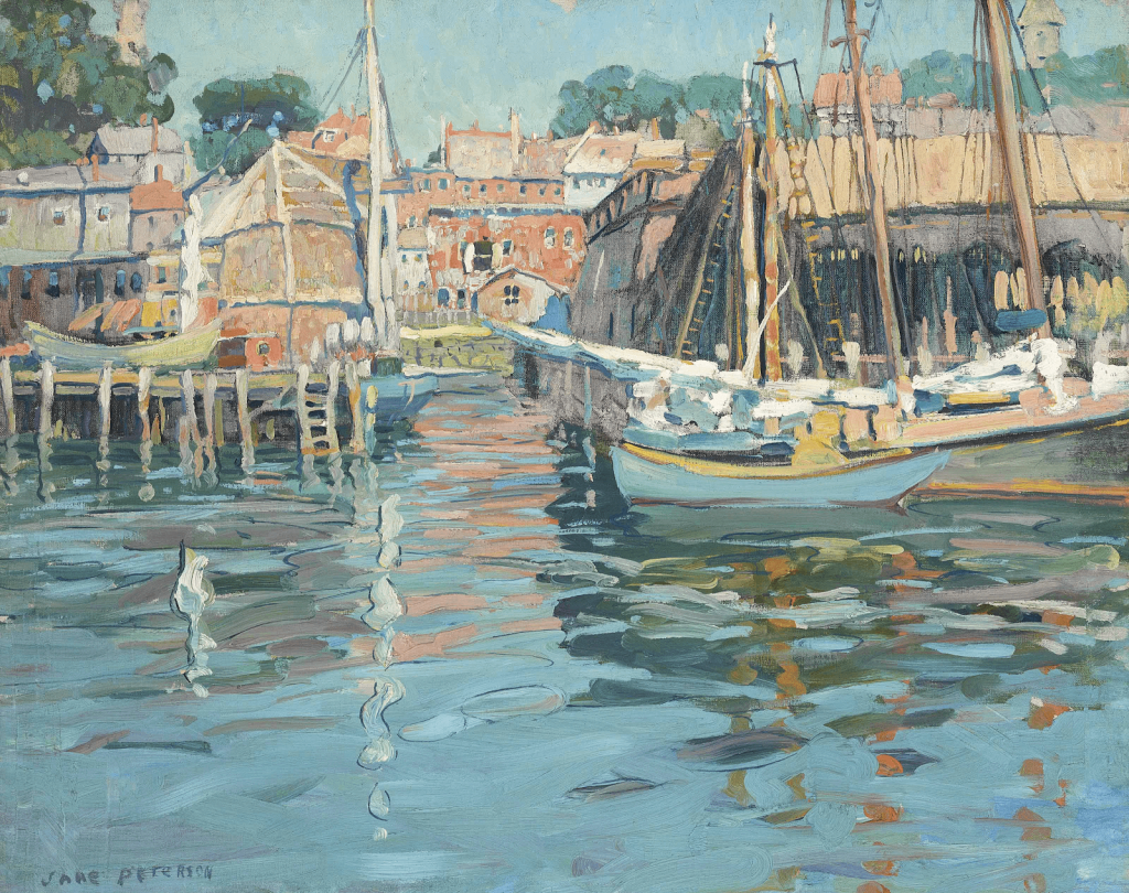 Jane Peterson, Gloucester Harbor. Image from Christie's.