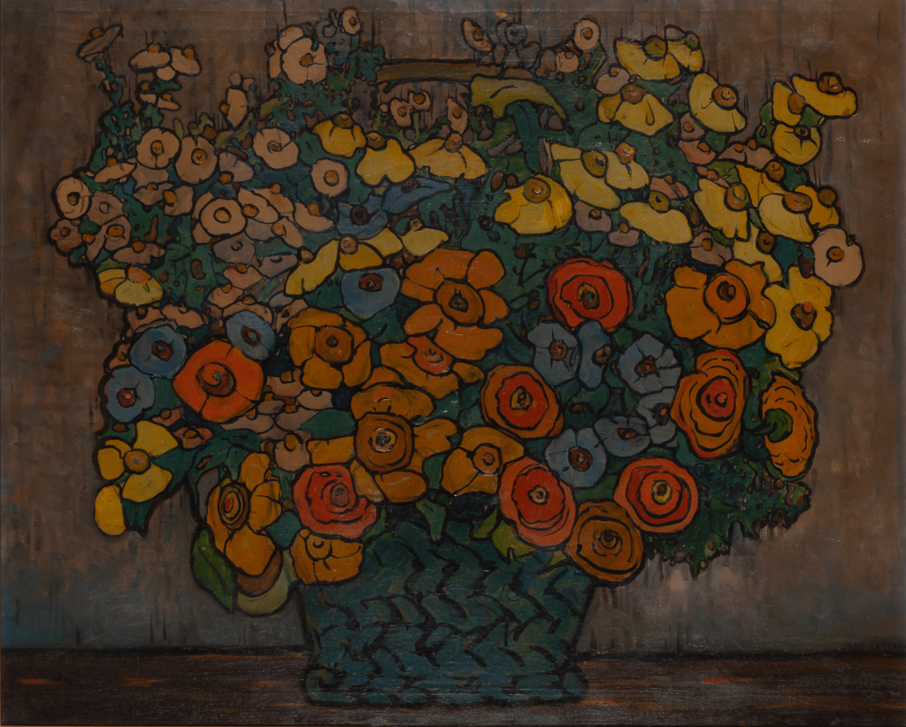 Jane Peterson, Floral Overmantel. Image from Doyle.