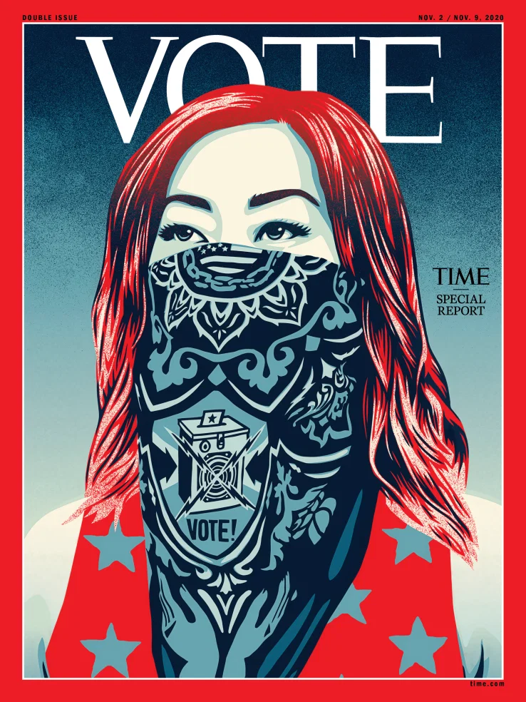 Shepard Fairey for TIME. Image from TIME.