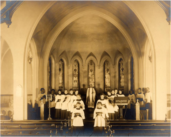 Angels Representing Seven Churches in the Church of the New Jerusalem in Cincinnati. Image from Freeman's.