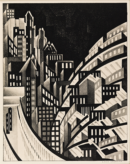 Louis Lozowick, New York, lithograph, circa 1925. Estimate $40,000 to $60,000.