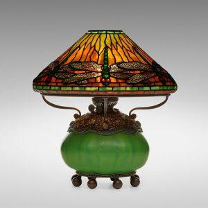 Tiffany Studios, Dragonfly table lamp