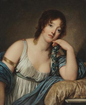 Jean-Baptiste Greuze (1725-1805), Portrait of Jeanne Philiberte Ledoux. Image from Bonhams.