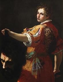 Jacopo Vignali (1592-1664), David with the Head of Goliath. Image from Bonhams.