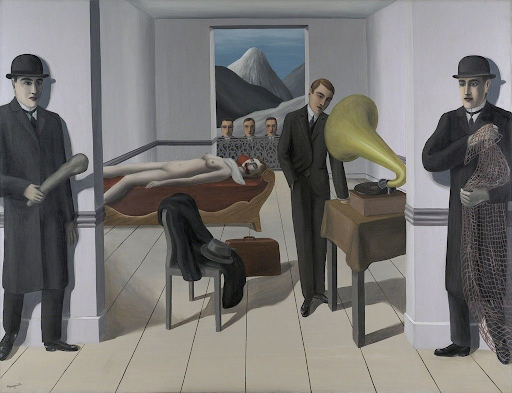 L'Assassin Menacé by René Magritte. Image from the Art Institute of Chicago.