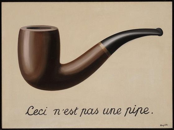 La trahison des images by René Magritte. Image from the Los Angeles County Museum of Art.