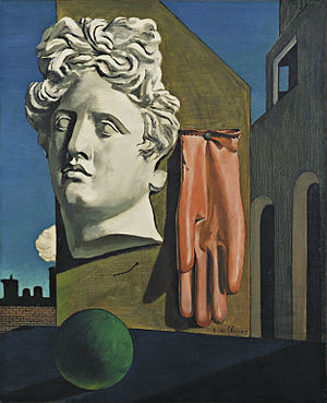 The Song of Love by Giorgio de Chirico. Image from the Museum of Modern Art.