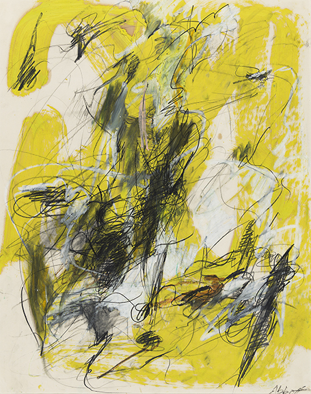 Mary Abbott, Untitled, oil and pencil on paper. Sold for $30,000, a record for the artist.