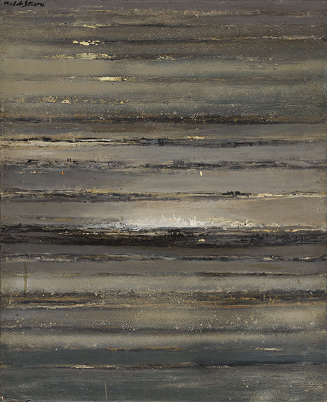 Hedda Sterne, Untitled, oil on canvas, 1962. Sold for $100,000, a record for the artist.