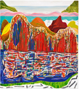 Shara Hughes (B. 1981), High Waters. Oil and acrylic on canvas. Sold for USD 6,457,751 on 2 December 2020 at Christie's in New York. Image from Christie's.