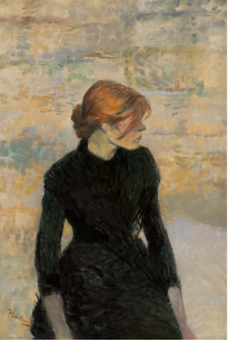 Henri de Toulouse-Lautrec (1864-1901), Pierreuse, 1889. Oil on canvas. Sold for USD 9,062,000 on 2 December 2020 at Christie's in New York. Image from Christie's.