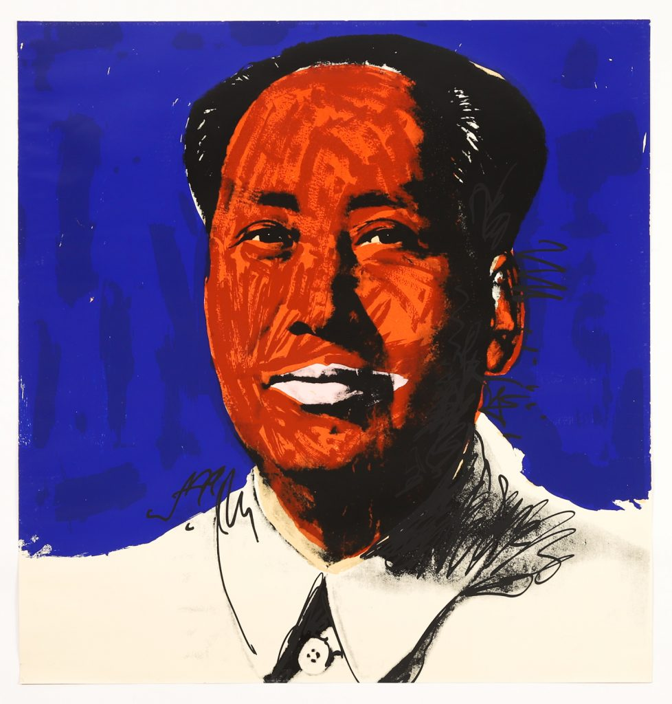 Andy Warhol (Am., 1928-1987), Mao, 1972, Screen-print on Beckett High White Paper, Ed. 25/250 Estimate $30,000-$50,000 reserve $15,000