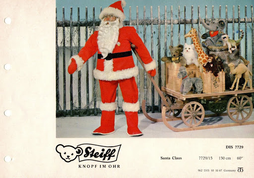 Steiff Santa catalog display. Photo from the author's collection.