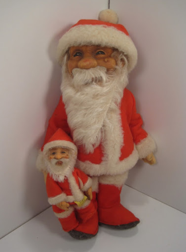 1950s-era Steiff Santa dolls. Photo from the author's collection.