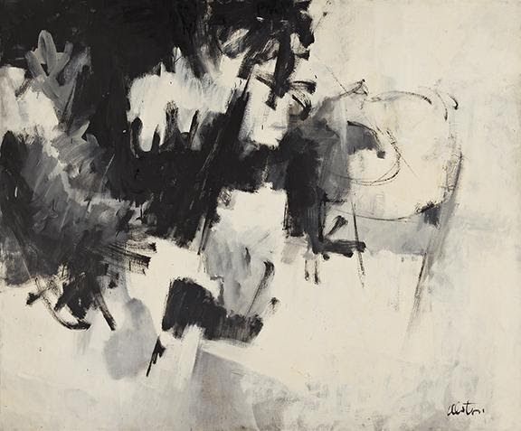 Charles Alston, Black and White #8, oil on linen canvas, 1961. Sold for $197,000, a record for the artist.