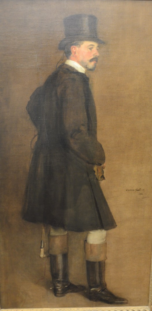 Portrait of Edward Martin Dressed for Fox Hunting by James Guthrie. Photo from Nadeau's Auction Gallery.