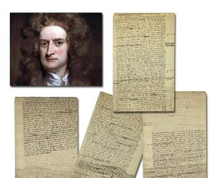 University Archives online auction, January 6th, will be led by rare items signed by Sir Isaac Newton, Albert Einstein