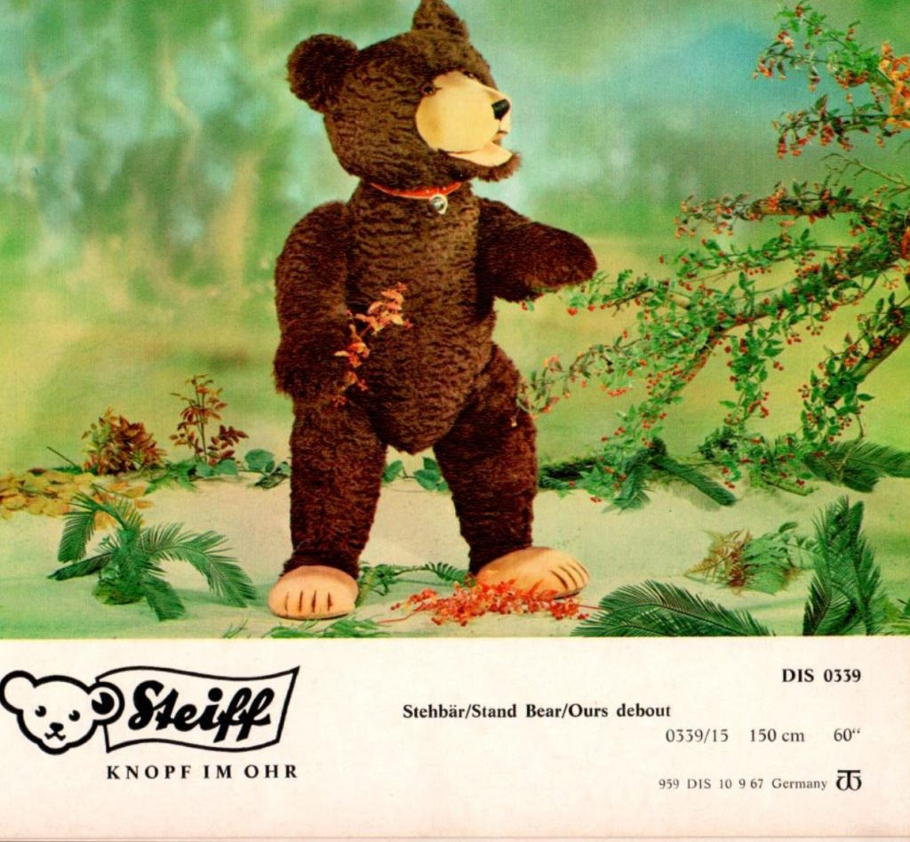 1960s life-sized bear catalog page. Photo from the author's collection.