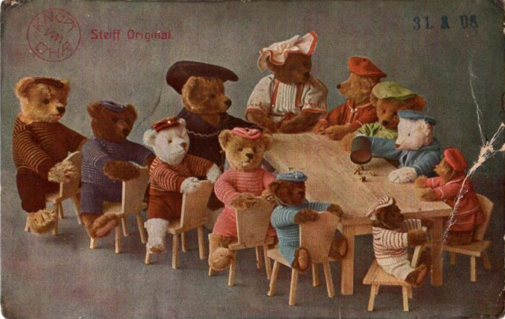 1908 Steiff postcard. Photo from the author's collection.