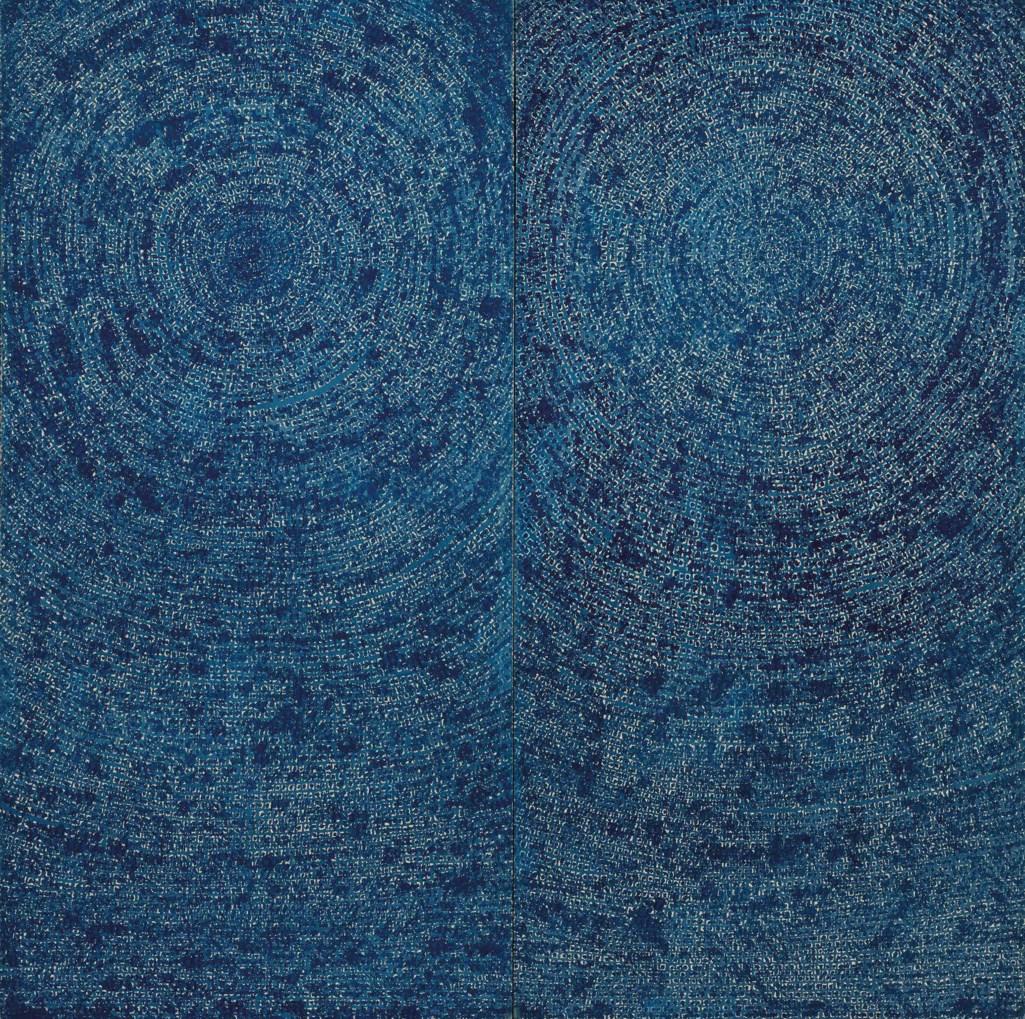 Kim Whan-ki, 05-IV-71 #200 (Universe), 1971. Image from Christie's.
