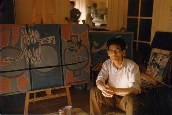 Kim Whan-ki in 1957. Image from The Wall Street Journal/ The Whan-ki Museum.