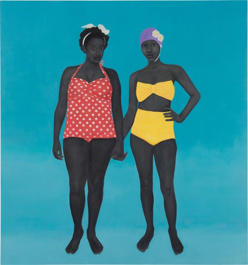 Amy Sherald, The Bathers (2015), Sold for $4,265,000. Image from Phillips.