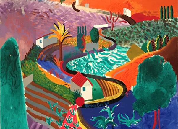 David Hockney, Nichols Canyon (1980). Sold for $41,067,500. Image from Phillips.