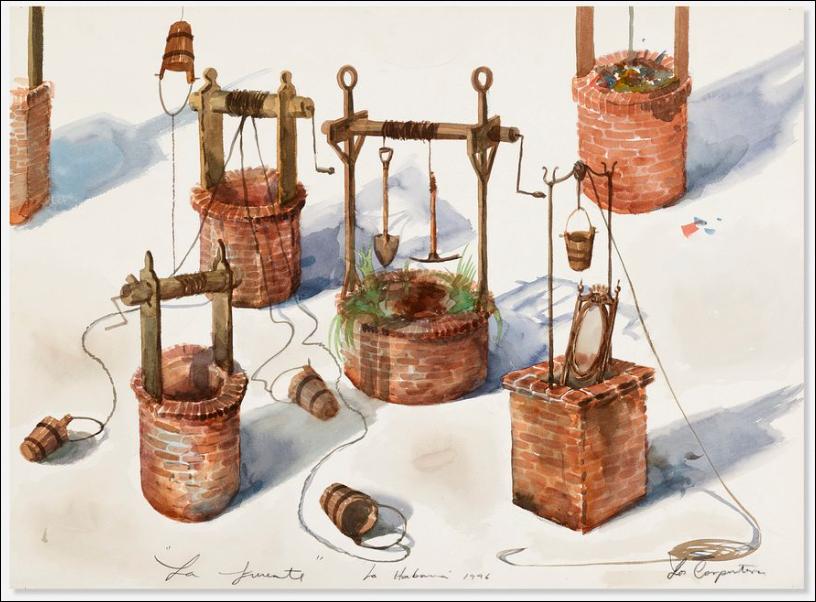 Los Carpinteros, La Fuente, 1996. Image from Rago.