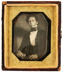 Sixth plate daguerreotype of Joseph Jenkins Roberts, the first and seventh president of Liberia