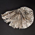 Lynda Benglis Platinum Lustre Fan Sculpture