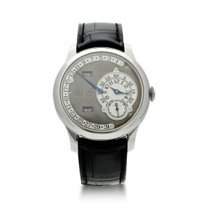 F.p. Journe Octa Calendrier Ruthenium, A Limited Edition Platinum Annual Calendar Wristwatch With Retrograde Date, Circa 2004